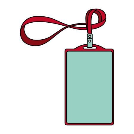 sjabloon voor reclame branding en huisstijl plastic id badge met lanyard vector illustratie