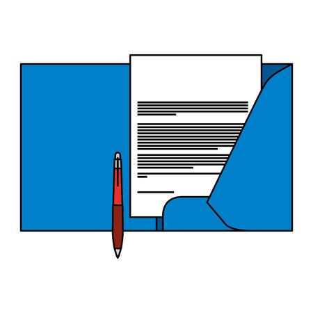 corporate identity template folder and pen letterhead documentation for business vector illustration Illusztráció