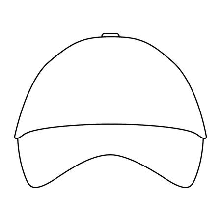 promotional souvenir baseball cap identity corporate empty template vector illustration outline Ilustração
