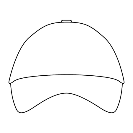 promotional souvenir baseball cap identity corporate empty template vector illustration outline Illustration