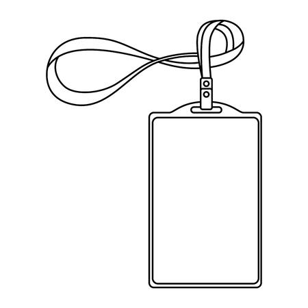 sjabloon voor reclame branding en huisstijl plastic id-badge met lanyard vector illustratie overzicht Stock Illustratie