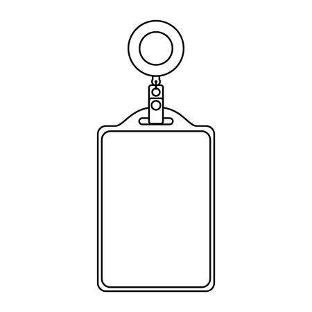 identiteitskaart hoofdkantoor lege sjabloon vector illustratie overzicht
