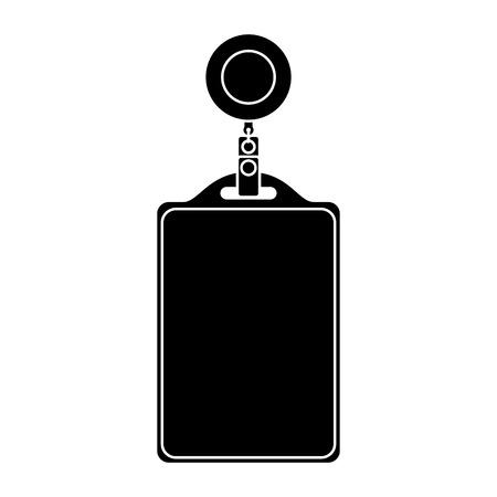 IDカード企業事務所空テンプレートベクトルイラストピクトグラム  イラスト・ベクター素材