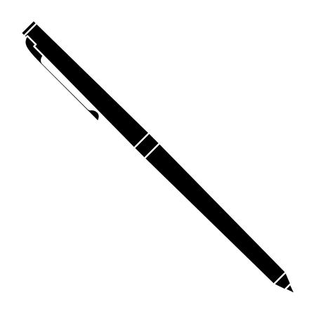 classic ballpoint pen write supply office object vector illustration pictogram