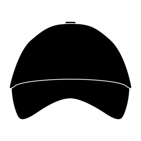 promotional souvenir baseball cap identity corporate empty template vector illustration pictogram Ilustrace
