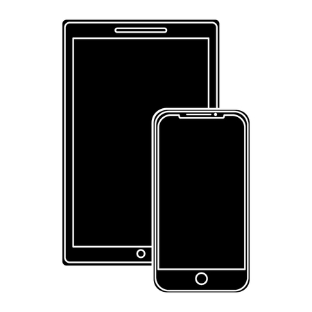 technology devices screen wireless template vector illustration pictogram Illustration