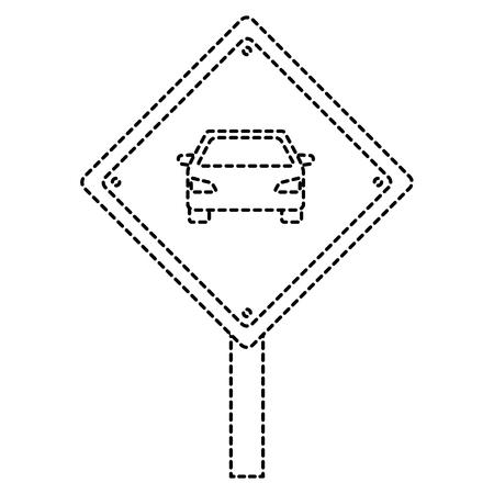 タクシー停車信号ベクトルイラストデザイン