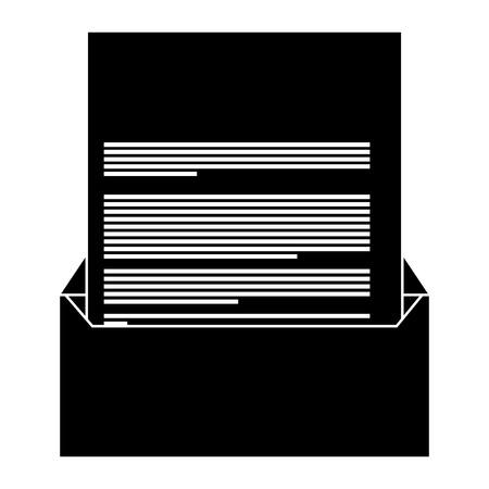 企業封筒と文書レター文房具ブランクベクトルイラストピクトグラム