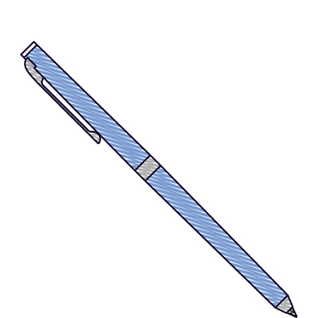 classic ballpoint pen write supply office object vector illustration drawn image