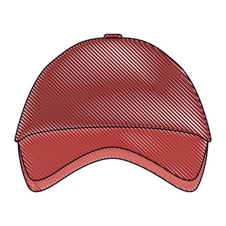 Imagen de la gorra de béisbol de recuerdo promocional identidad corporativa ilustración de la plantilla vacía vector dibujado Foto de archivo - 91480537
