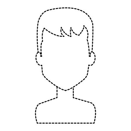 young man shirtless avatar character vector illustration design Stock Vector - 91480540
