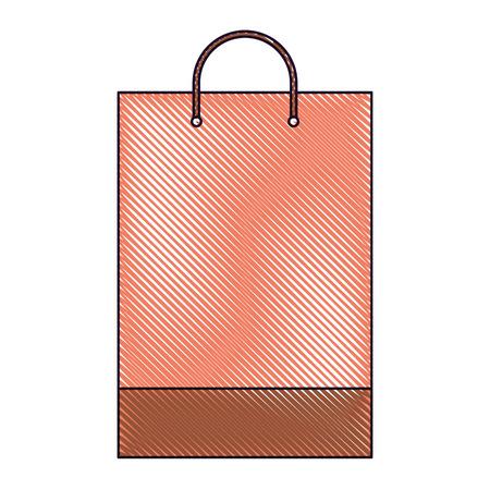 shopping bag template sample business stationery blank vector illustration drawn image Illustration
