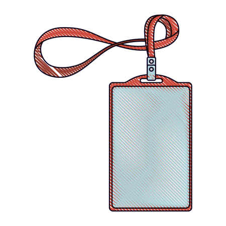 template for advertising branding and corporate identity plastic id badge with lanyard drawing image