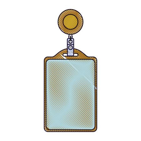 識別カード本社空のテンプレート ベクトル イラスト イメージを描画します。