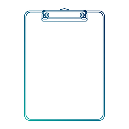 office clipboard clip stationery element blank icon vector illustration blue line image