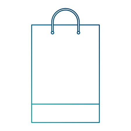 shopping bag template sample business stationery blank vector illustration blue line image