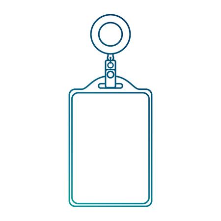 識別カード 企業事務所 空テンプレート ベクトル イラスト 青線画像