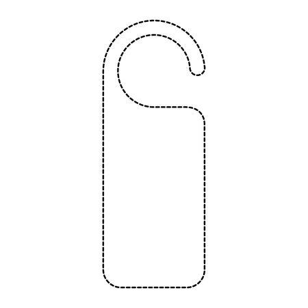 door knob do not disturb hanger empty template vector illustration dotted line design