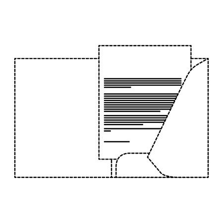 corporate business folder and document paper stationery template design vector illustration dotted line design Illusztráció
