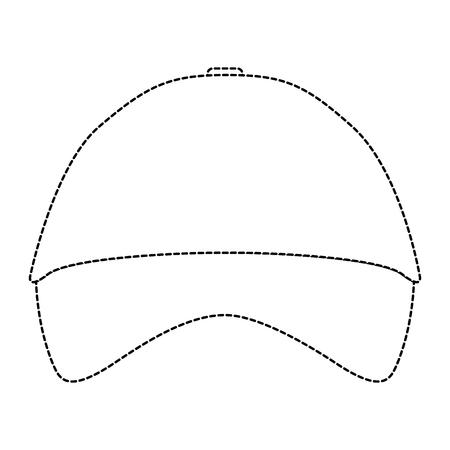 promotional souvenir baseball cap identity corporate empty template vector illustration dotted line design