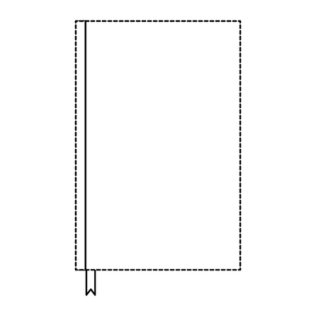 notebook with bookmark template blank corporate stationery diary vector illustration dotted line design