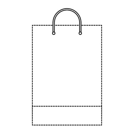 Bolso de compras plantilla muestra negocio papelería ilustración vectorial en blanco línea punteada diseño Foto de archivo - 91480645