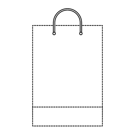 shopping bag template sample business stationery blank vector illustration dotted line design