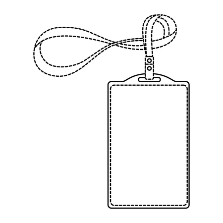 Template for advertising branding and corporate identity plastic id badge with lanyard dotted line design. Illustration