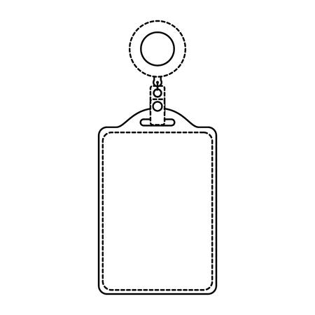 Identification card corporate office empty template vector illustration dotted line design. Çizim
