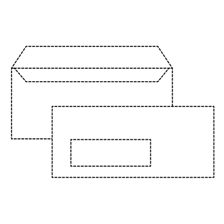 Corporate envelope business stationery templates empty vector illustration dotted line design. 向量圖像