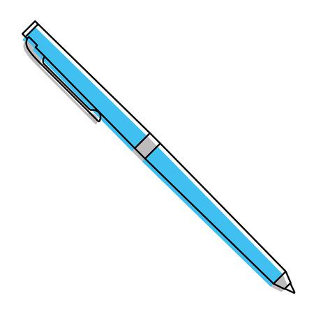 klassieke balpen schrijven levering kantoor object vector illustratie Stock Illustratie