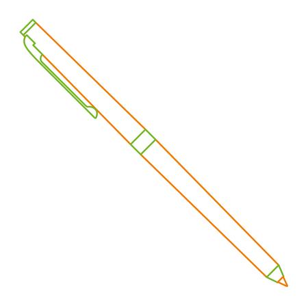 klassieke balpen schrijven levering kantoor object vector illustratie kleur lijn ontwerp Stock Illustratie