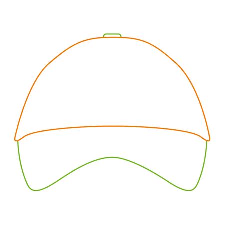 Promotional souvenir baseball cap identity corporate empty template vector illustration color line design.