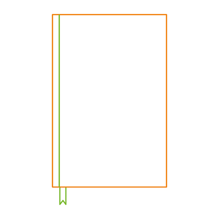 Notebook with bookmark template blank corporate stationery diary vector illustration color line design.