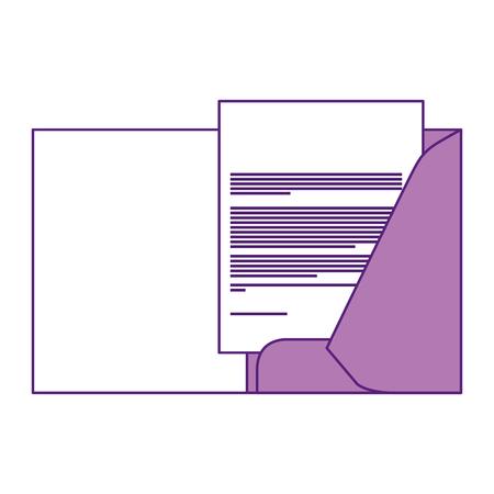 corporate business folder and document paper stationery template design vector illustration Banco de Imagens - 91492990