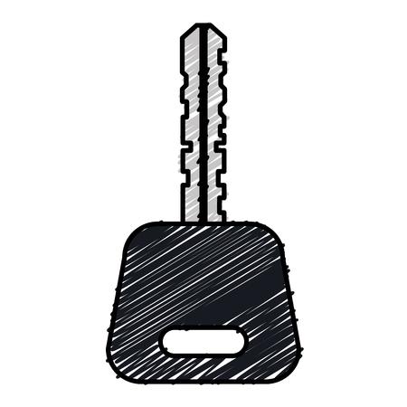 車のキー分離アイコンベクトルイラストデザイン
