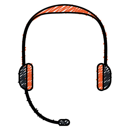 headset device isolated icon vector illustration design
