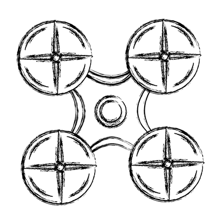 drone technology isolated icon vector illustration design