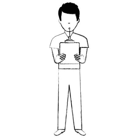 ドローンリモコンベクトルイラストデザインの男  イラスト・ベクター素材