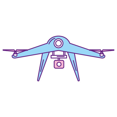 drone technology with camera vector illustration design