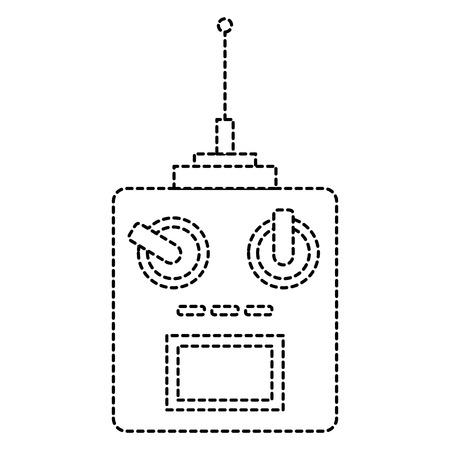 드론 리모컨 아이콘 벡터 일러스트 디자인