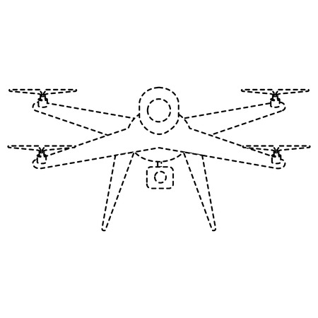 カメラベクトルイラストデザインのドローン技術  イラスト・ベクター素材