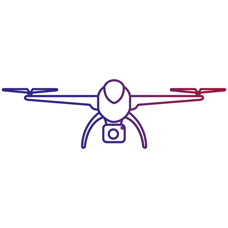 A drone technology with camera vector illustration design