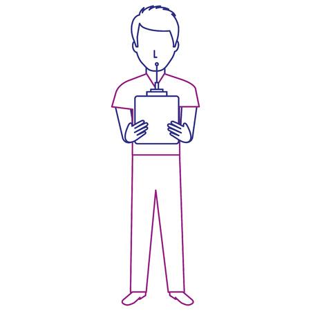 A man with drone remote control vector illustration design Ilustração