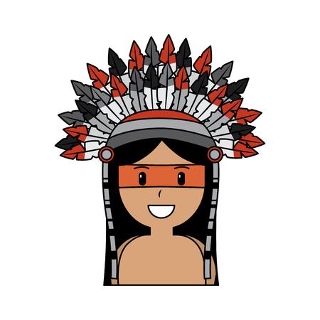 원주민 원주민 아메리카 전쟁 bonnet 벡터 일러스트와 함께 스톡 콘텐츠 - 91502329