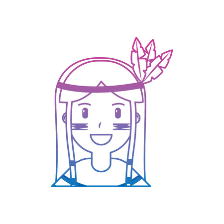 portrait de natif américain natif illustration