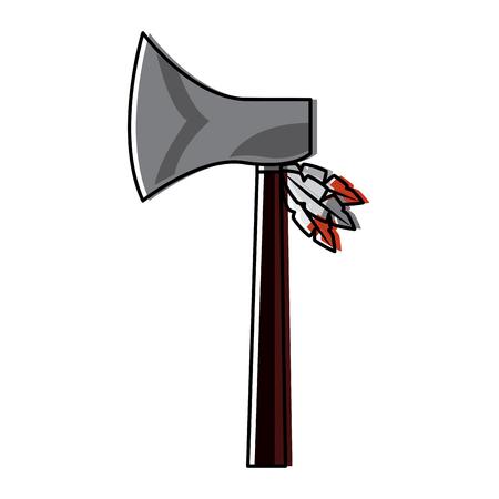 Native axe illustration.