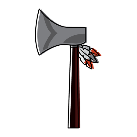 Native axe illustration.