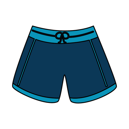 male short swimsuit fashion clothes vector illustration