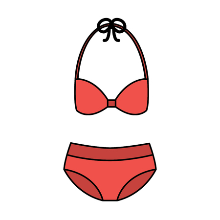bikini swimsuit fashion clothes accessory icon vector illustration Иллюстрация